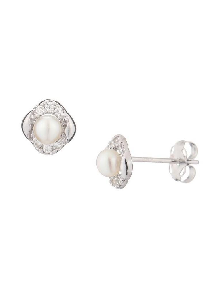 Boucle Anastasia Eclat Perle 3751000 Or Blanc Blanche D'oreilles PZkuOiX